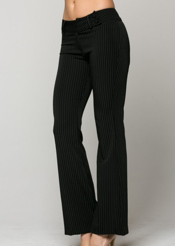 Black Pinstripe Dress Pants