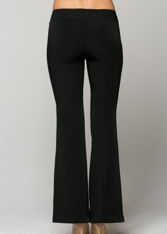 Image of Black Pinstripe Dress Pants
