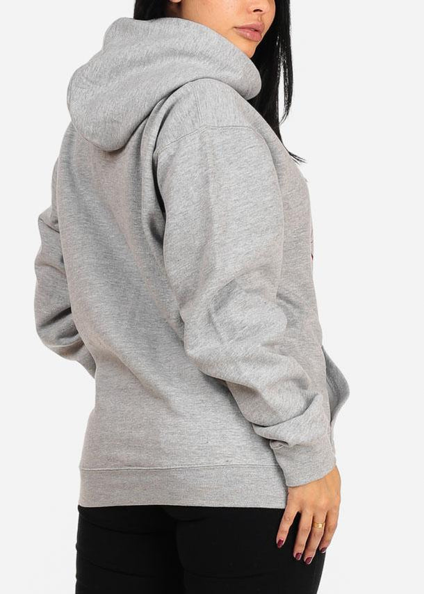 Vintage Graphic Grey Hoody Sweatshirt