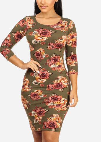 Image of Olive Rose Floral Dress
