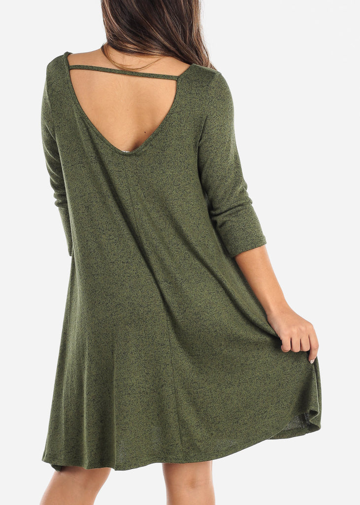Casual Olive Dress