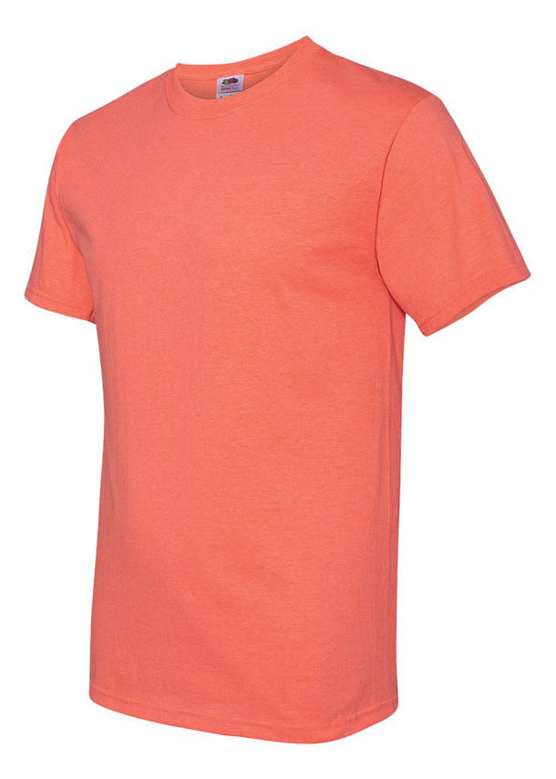 Men's Fruit Of The Loom Heather Coral Tshirt