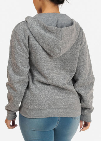 Image of Heather Navy Stretchy Sweatshirt Hoodie