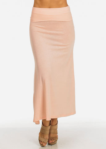 Light Pink Flowy Maxi Skirt