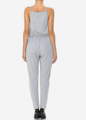 "Grey Graphic Jumpsuit ""Music"""