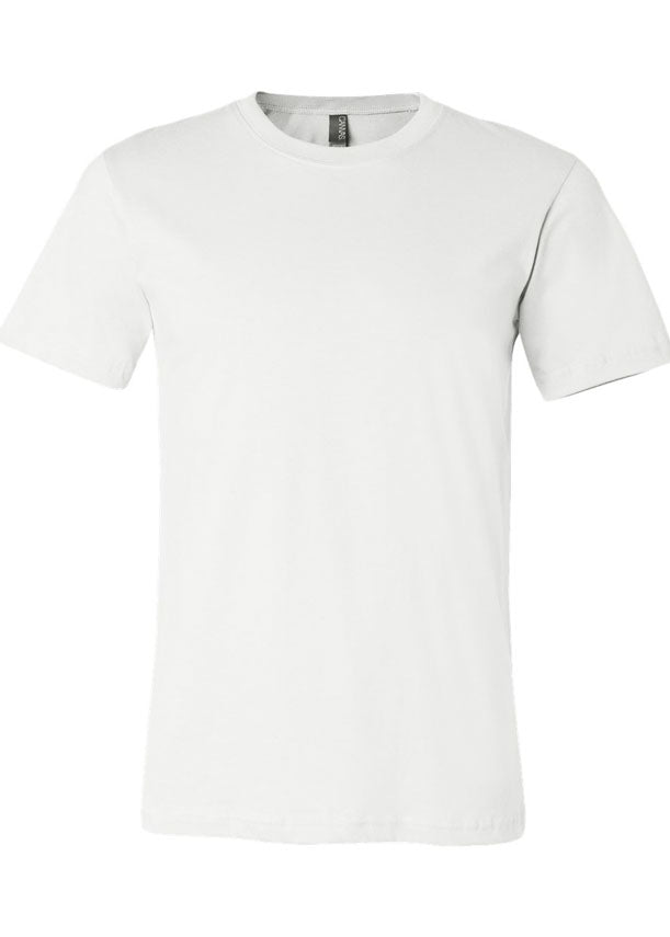 Crew Neck Basic White Jersey Tee