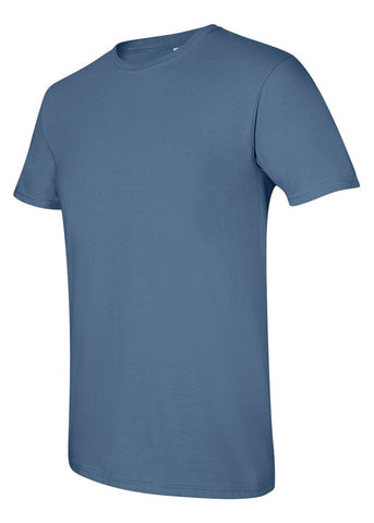 Image of Men's Gildan Softstyle 100% Cotton Crew Neck Indigo Tshirt