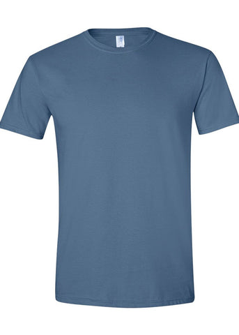 Men's Gildan Softstyle 100% Cotton Crew Neck Indigo Tshirt