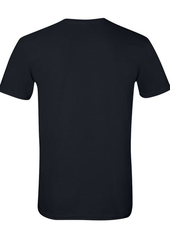 Image of Men's Gildan Softstyle 100% Cotton Crew Neck Black Tshirt
