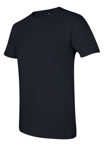 Men's Gildan Softstyle 100% Cotton Crew Neck Black Tshirt