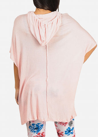Hooded Pink Tunic Top