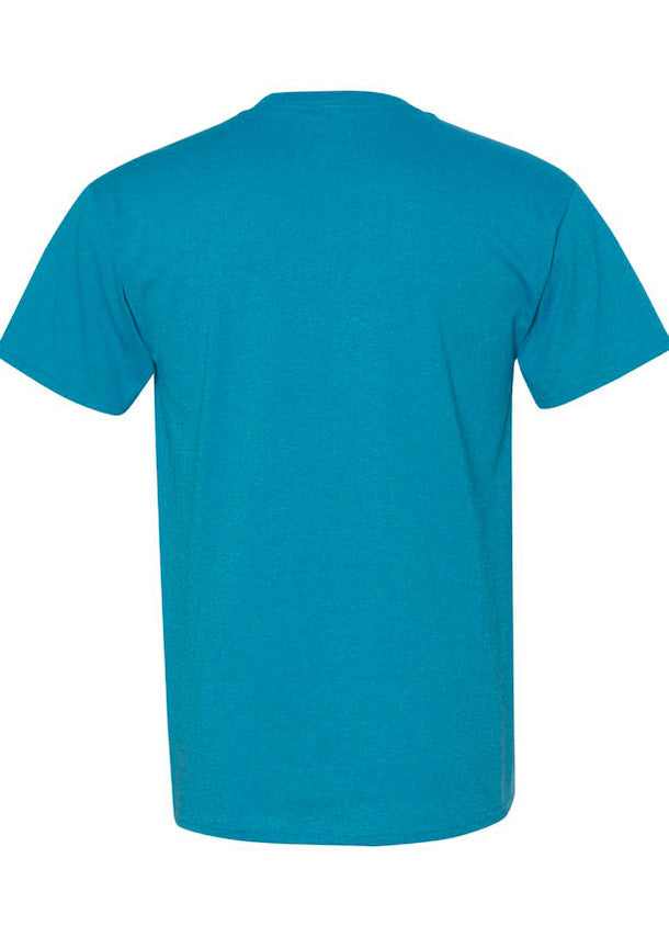 Men's Fruit Of The Loom Heather Turquoise Tshirt