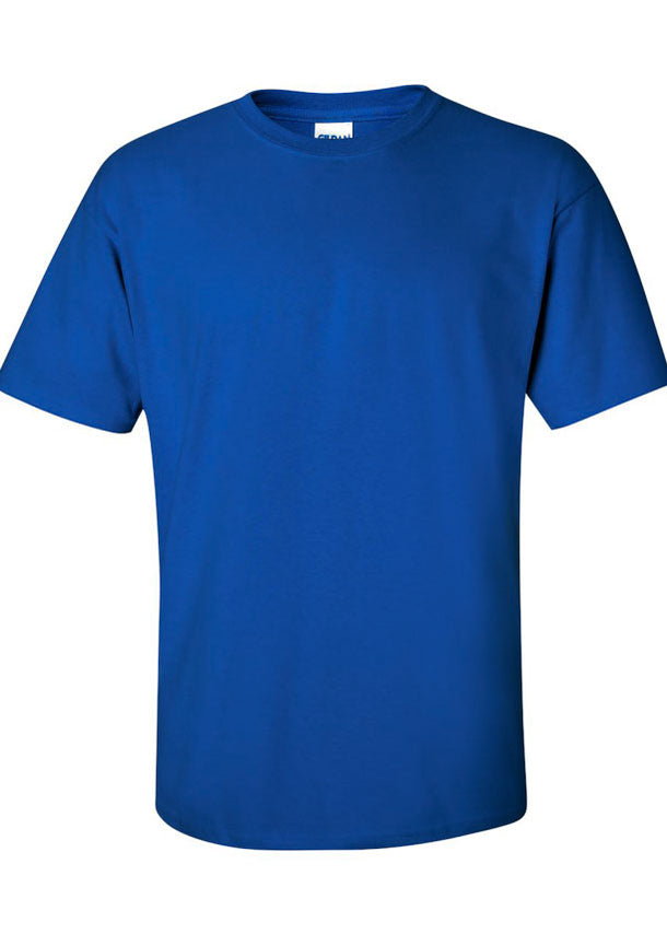 Men's Gildan Ultra Solid 100% Cotton Crew Neck Royal Blue Tshirt