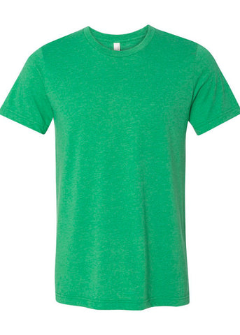 Unisex Bella Heather Green Tee