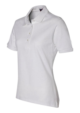 Image of Women's Jerzees White Polo Shirt