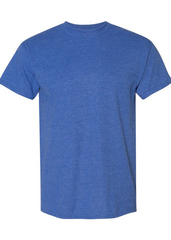 Men's Gildan Dryblend 65/35 Men's Crew Neck Heather Royal Blue Tshirt