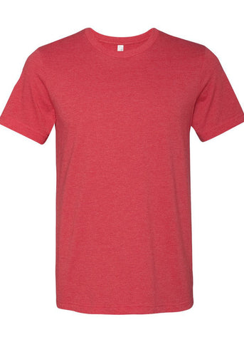 Image of Unisex Bella Heather  Red Tee