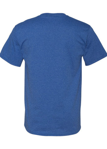 Men's Fruit of the Loom 50/50 Crew Neck Retro Heather Royal Tshirt