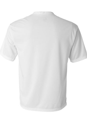 Men's C2 Sport Lightweight Performance 100% Polyester White Tshirt