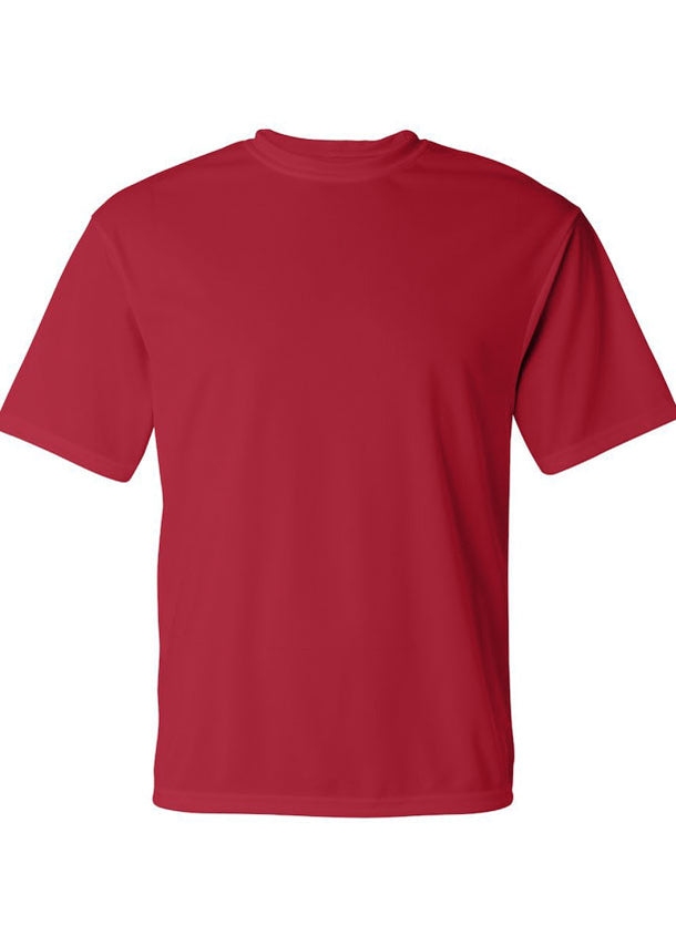Men's C2 Sport Lightweight Performance 100% Polyester Red Tshirt