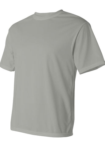 Men's C2 Sport Lightweight Performance 100% Polyester Silver Tshirt