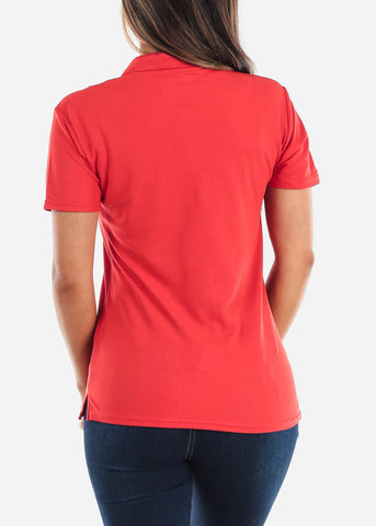 Women's Gildan Red Polo Shirt