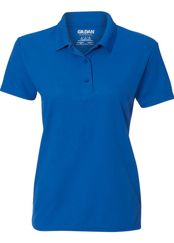 Image of Women's Gildan Royal Blue Polo Shirt
