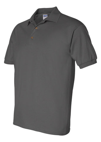 Men's Gildan Ultra 100% Heavy Cotton Charcoal Jersey Sport Shirt Polo