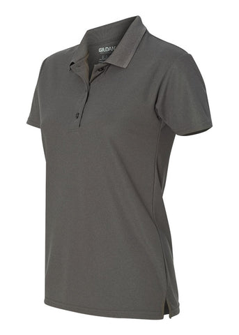 Women's Gildan Charcoal Polo Shirt