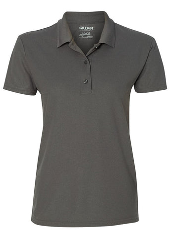 Image of Women's Gildan Charcoal Polo Shirt