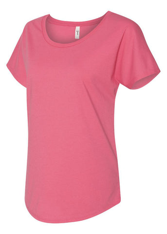 Women's Next Level Hot Pink Tshirt