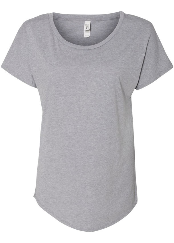 Women's Next Level Heather Grey Tshirt