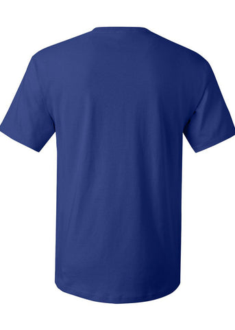 Men's Hanes ComfortSoft 100% Cotton Crew Neck Royal Blue Tshirt