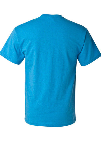 Men's Gildan Ultra Cotton Heather Sapphire Crew Neck Tshirt
