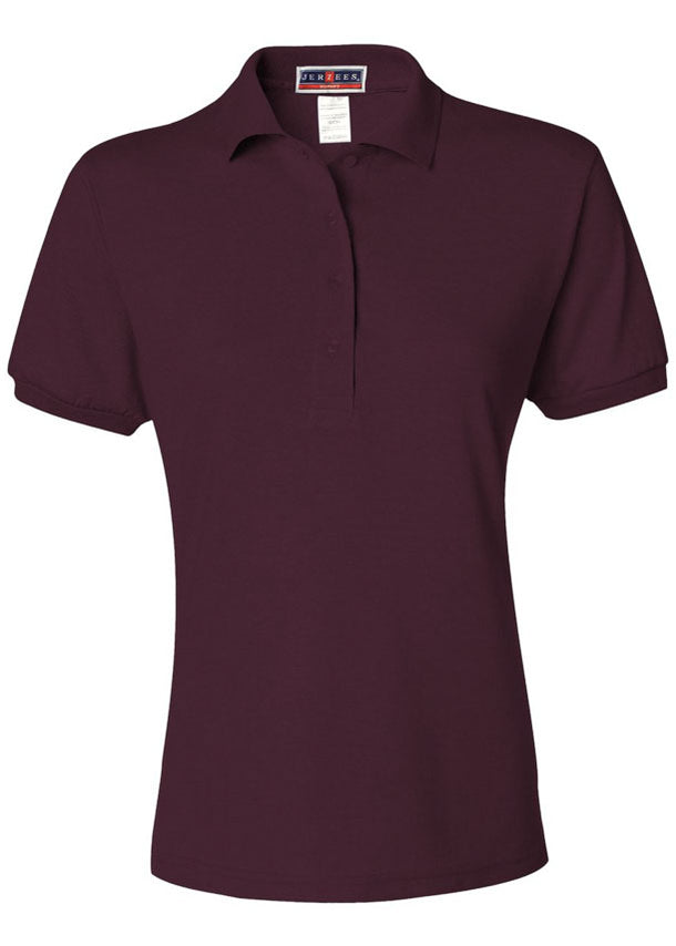 Women's Jerzees Maroon Polo Shirt
