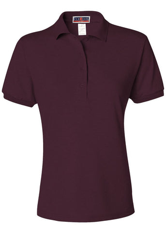 Image of Women's Jerzees Maroon Polo Shirt