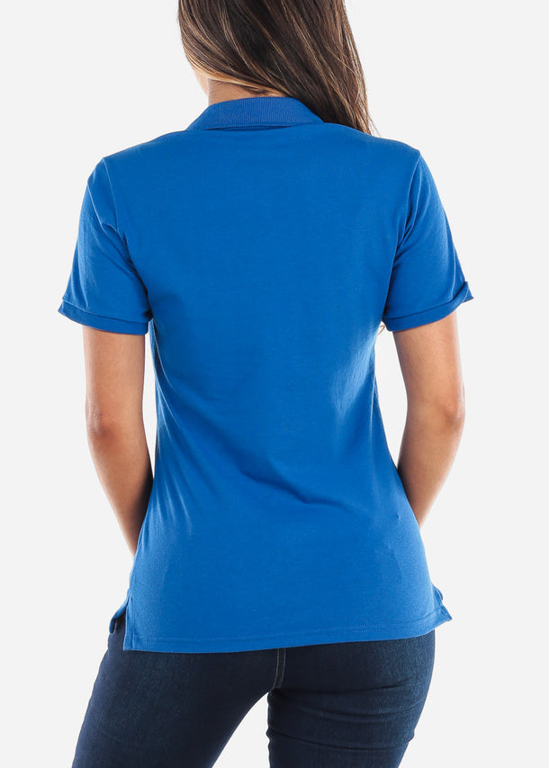 Women's Royal Blue Polo Shirt