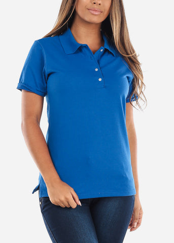 Image of Women's Royal Blue Polo Shirt