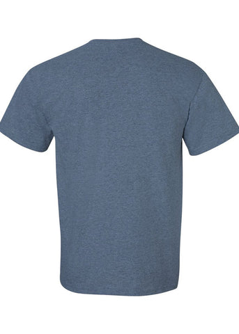Men's Gildan Ultra Cotton Heather Indigo Crew Neck Tshirt