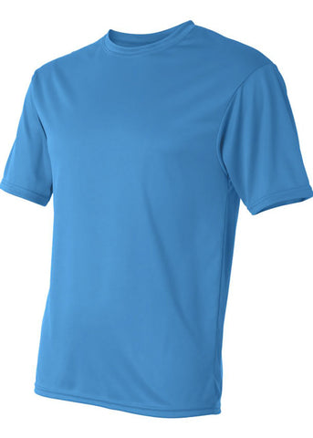 Image of Men's C2 Sport Lightweight Performance 100% Polyester Blue Tshirt