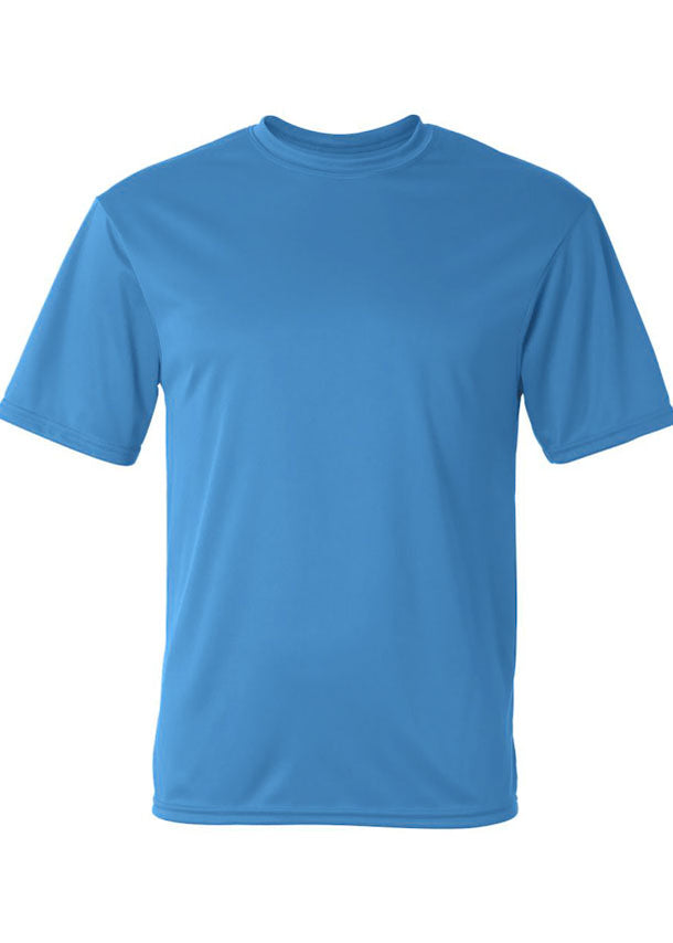 Men's C2 Sport Lightweight Performance 100% Polyester Blue Tshirt
