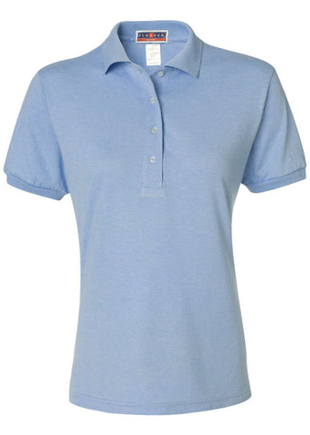 Women's Jerzees Light Blue Polo Shirt