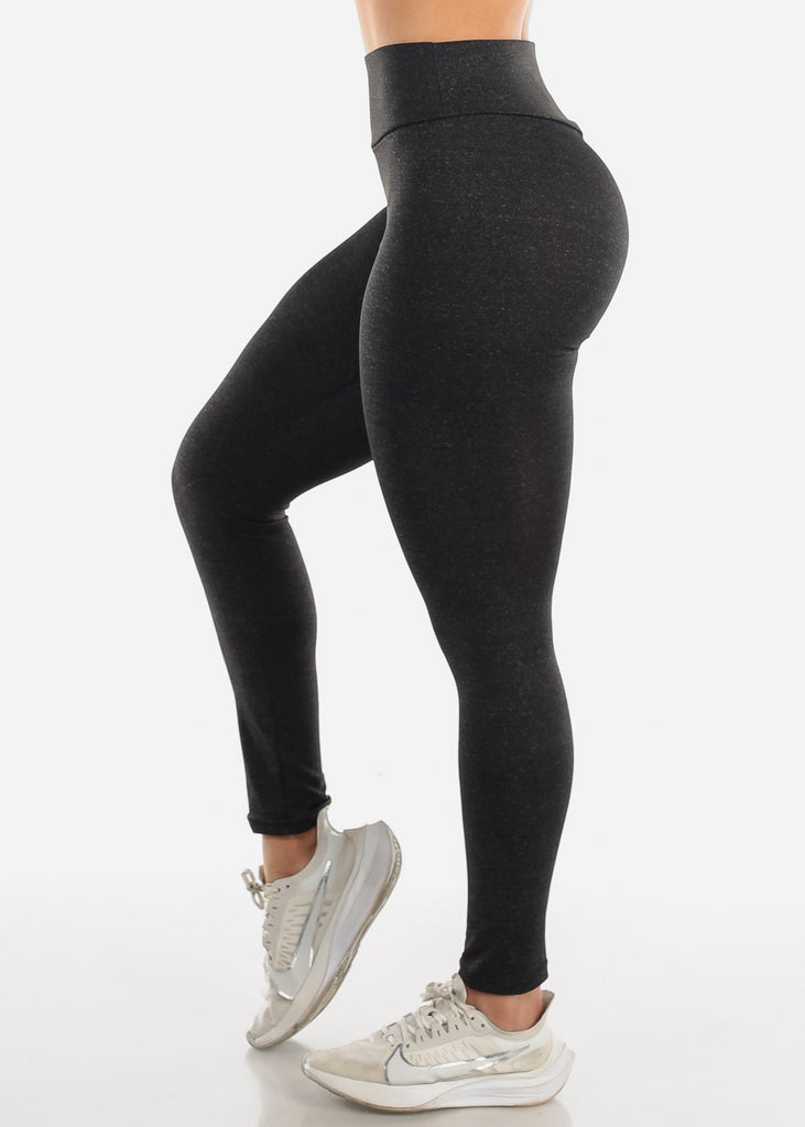 Activewear Push Up Charcoal Leggings