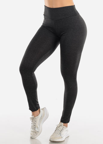 Image of Activewear Push Up Charcoal Leggings