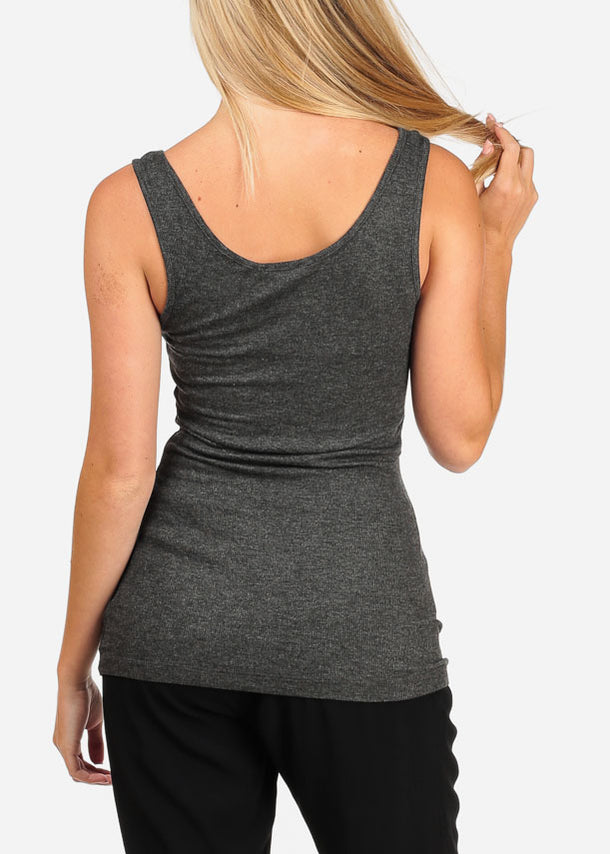 Essential Charcoal Tank Top