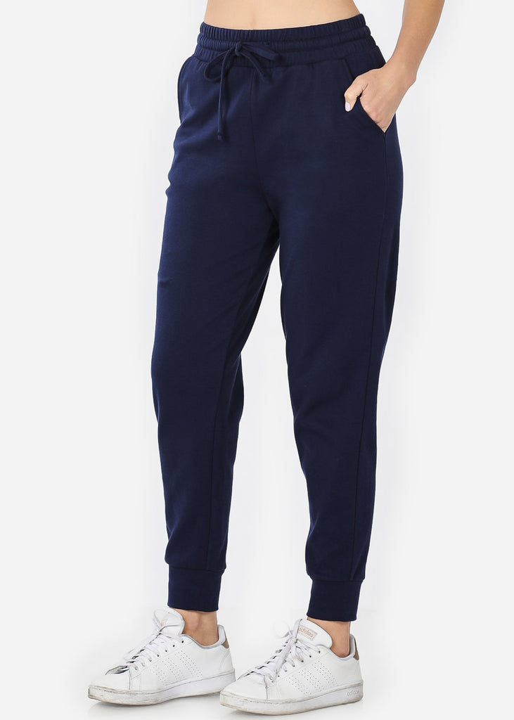 Cotton Navy Jogger Sweatpants