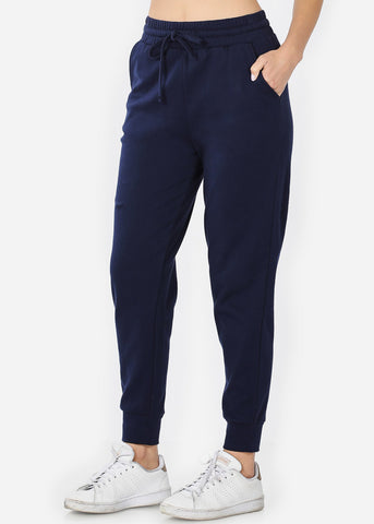 Image of Cotton Navy Jogger Sweatpants