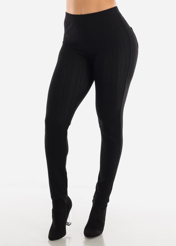 Butt Lifting Black Skinny Jeggings