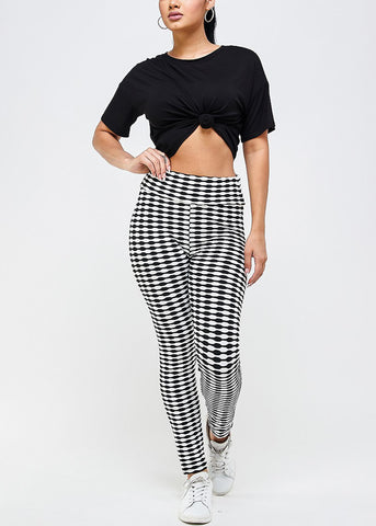 Image of Sporty Checkered High Rise Leggings