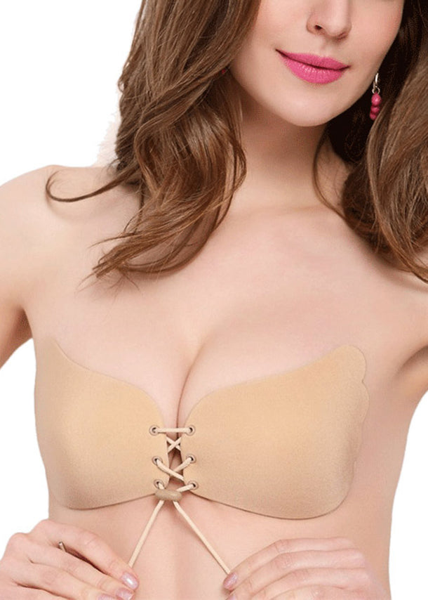 Fly Invisible Strapless Push Up Nude Stick On Bra